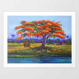 Flamboyan Art Print