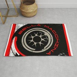 Bella Macchina Race Tire Red Pop Art Rug