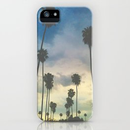 'Clouded Palms_Pastel-ized' iPhone Case