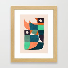Two birds dancing Framed Art Print