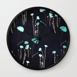 HOPE: Light Blue Flower Pattern Wall Clock