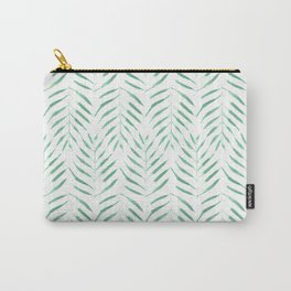 Palm trees in acqua and white Carry-All Pouch