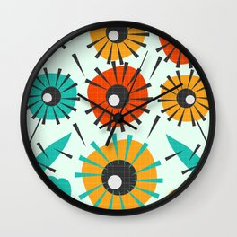 Prickly flowers Wall Clock