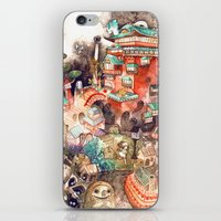 spirited away iPhone & iPod Skins featuring Spirited Away by Foya