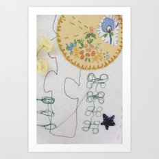 machine embroidery 1 Art Print