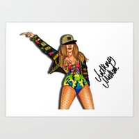 versace Art Prints featuring JLo Versace by Anthony Michael
