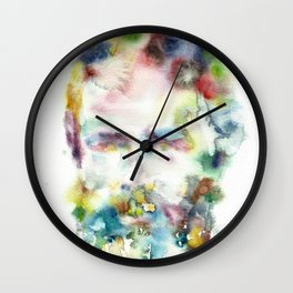 HERMAN MELVILLE - watercolor portrait.2 Wall Clock