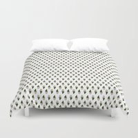 cacti Duvet Covers featuring Cacti  by Ena Chahal