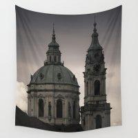prague Wall Tapestries featuring St. Nicholas Church Prague by Maria Heyens
