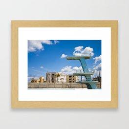 Abandoned Pool, Havana, Cuba Framed Art Print