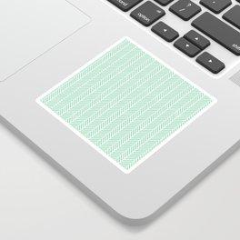 Herringbone Mint Inverse Sticker