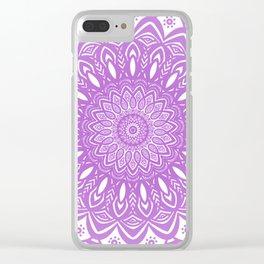 Beautiful Purple Violet Mandala Design Pattern Minimal Minimalistic Clear iPhone Case