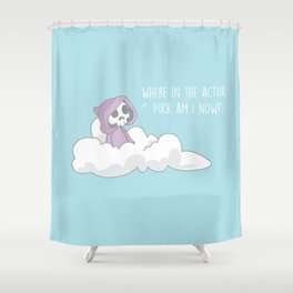 Where Am I Lil' Grim Shower Curtain