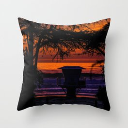 Tower 16 Sunset Throw Pillow