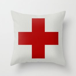 Remember Red Cross Throw Pillow