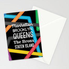 NY Metro Subway Stationery Cards