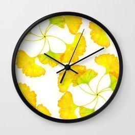 ginkgo pattern Wall Clock