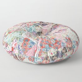Sacramento map Floor Pillow