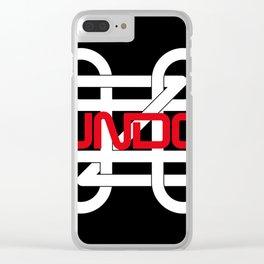 UNDO Black Clear iPhone Case