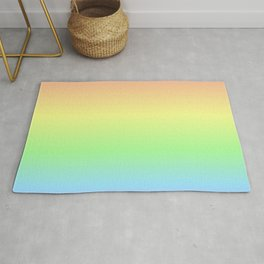 Pastel Rainbow Gradient Rug