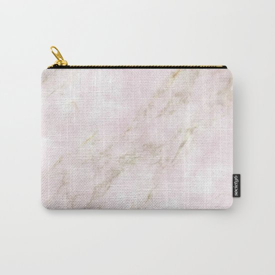 Rose Gold Marble Carry-All Pouch