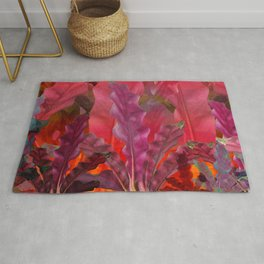 """Pink Scifi Tropical Jungle"" Rug"