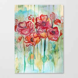 River Poppies Canvas Print