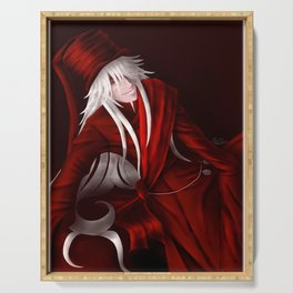 Undertaker in Red Serving Tray