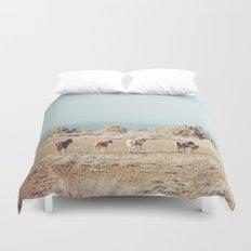 Oregon Wilderness Horses Duvet Cover