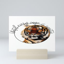 Until Every Cage is Empty Mini Art Print