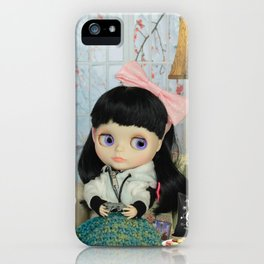 Winter, cold and windy day iPhone Case