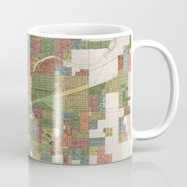 Vintage Map of Spokane WA (1910) Coffee Mug