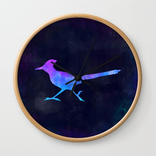 ROADRUNNER IN SPACE // Animal Graphic Art // Watercolor Canvas Painting // Modern Minimal Cute by misomiso