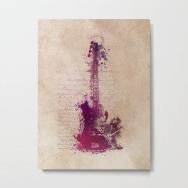 purple guitar Metal Print