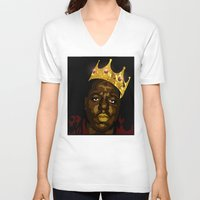 notorious V-neck T-shirts featuring Notorious by PeacexLovexAnimate
