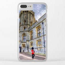 Windsor Castle Coldstream Guard Clear iPhone Case
