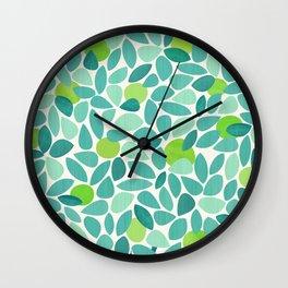 Mid Century Lime Tree Wall Clock