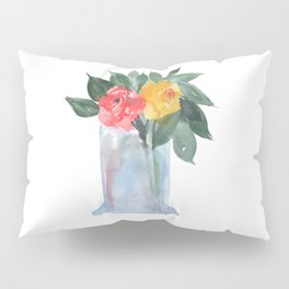 Vase with Roses Pillow Sham