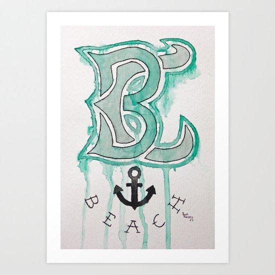 BC Beach Art Print