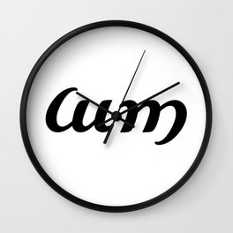 Ambigram Cum Wall Clock