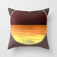 poem Throw Pillows featuring Ocean poem by Joris182