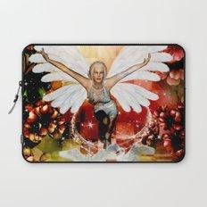 Wonderful fairy with swan Laptop Sleeve