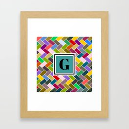 G Monogram Framed Art Print