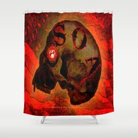 anarchy Shower Curtains featuring ANARCHY - 005 by Lazy Bones Studios