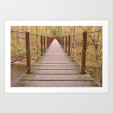Orange Grove Suspension Bridge Art Print