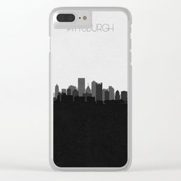 City Skylines: Pittsburgh (Alternative) Clear iPhone Case