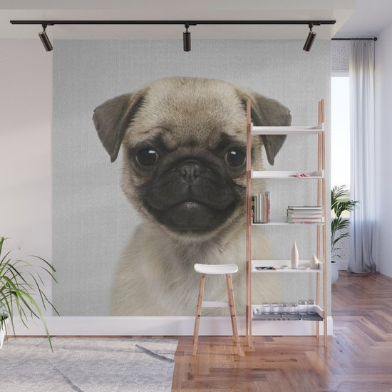 Pug Puppy - Colorful by galdesign