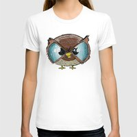 owls T-shirts featuring Owls by Conrad