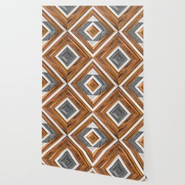 Urban Tribal Pattern 4 - Wood Wallpaper