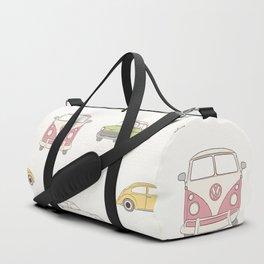 Pastel Car Symphony - Pink Duffle Bag